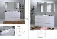 big size double bowl bathroom furniture