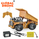 HuiNa 1540 RC Truck Toys Six Channel 6CH 112 40HMZ Metal Dump Trucks Remote Control Toys RTR With Charging Battery Alloy Truck
