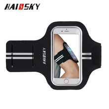 HAISSKY Running Adjustable Sports Gym Armband Arm Band Case Holder Cover for iPhone 7