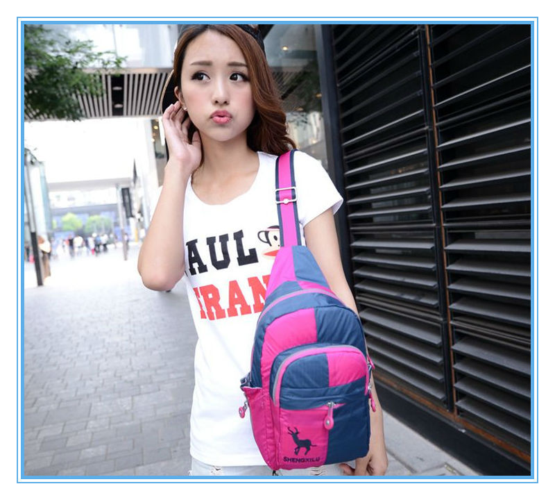 Girls' high quality wholesale triangle shaped backpack bag made in China