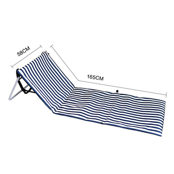 Striped look Foldable beach chair for easy carrying outdoor use