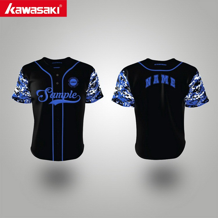 New design eco-friendly sublimation blank black baseball jersey philippines