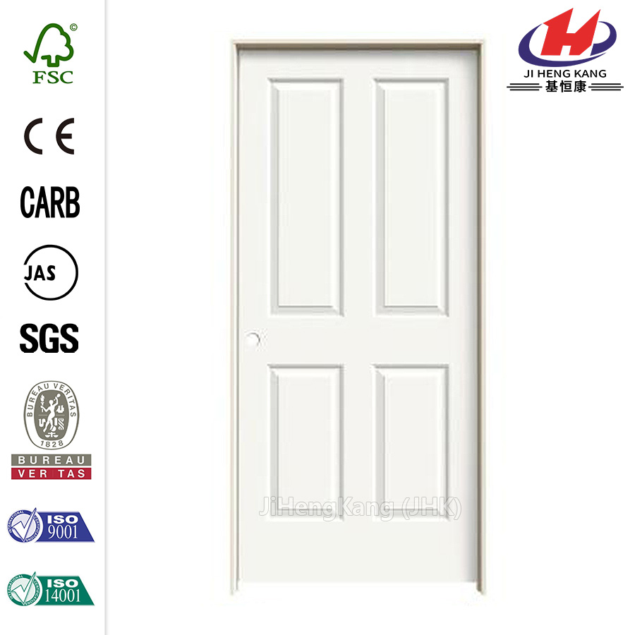 JHK-004P Wooden Leaf Shaker Designs Wood Panel Interior Doors