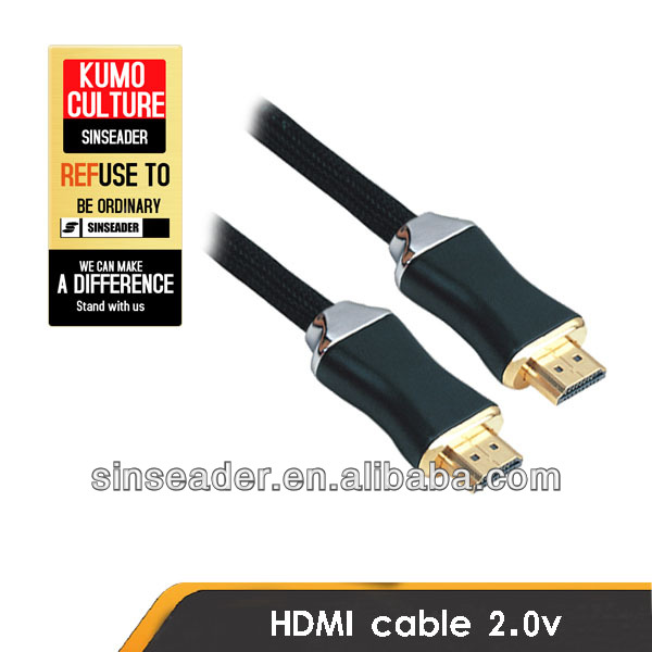 Full metal casing High speed HDMI cable 1.4 printed with Customer logoes