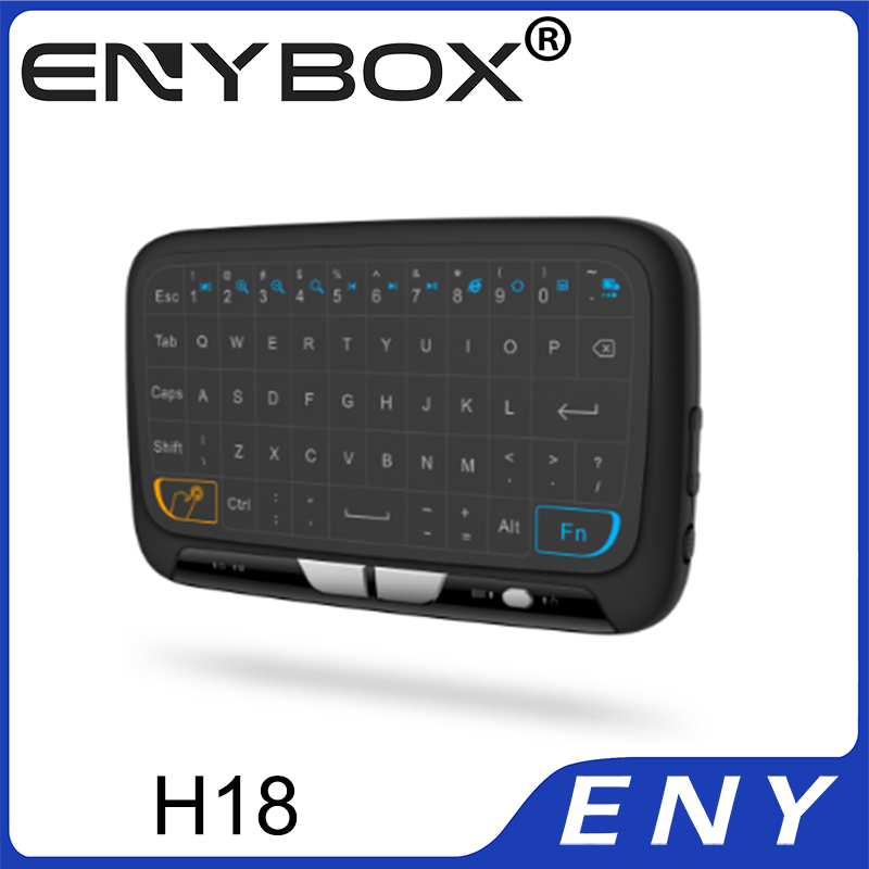 ENYBOX @ H18 Touchpad Wireless Keyboard 2.4G USB for Android TV box/ PC/Smart TV