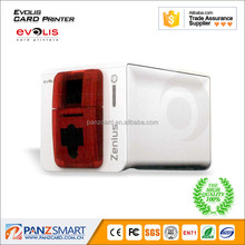 Evolis zenius pvc id card printer single sided printing pvc/id card digital printer 300dpi print head