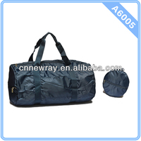 Round Polyester Foldable Gym Duffle Bag