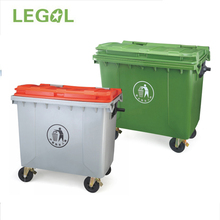 1100 liter Plastic Bin with Foot Pedal