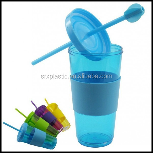 20oz Plastic Drink Juice Smoothie iced Coffee Mug Tumbler Cup Lid Straw for Party china supplier