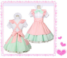 CUTE Lolita Japanese Girl MAID UNIFORM Costume Cosplay NEW Halloween OUTFIT