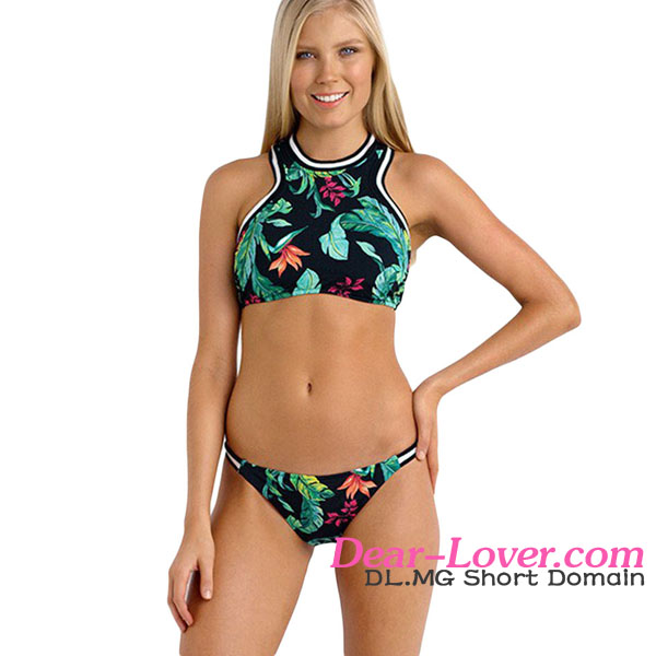 tamanna xxx bikini girl swimwear photos Jungle Out There Sporty High Neck Swimsuit
