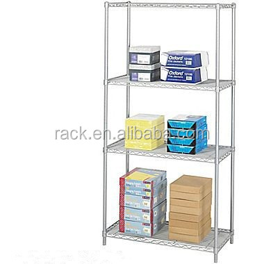 2F Adjustable 4 Tiers Epoxy Steel Office Storage , NSF Approval