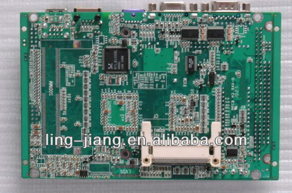 mini atx fanless motherboard PCM3-5530, with 1lan / 1 VGA / 4COM / 2 USB2.0 / 1 PS2
