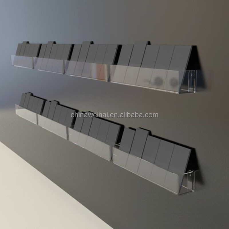 clear wall mounted acrylic book display