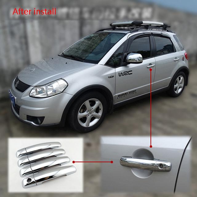 chrome car door handle cover parts for Suzuki swift 04-2010