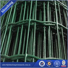 PVC Coated Welded Wire Mesh Coated Hutches Welded rigid Green Mesh-----ISO9001