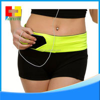 Outdoor Sports Running Waist Pack Runner Belt Sport Waist Bag Fashion light weight flip spandex running belt bag
