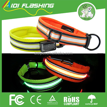 Good price of dog collars wholesale led rechargable OEM