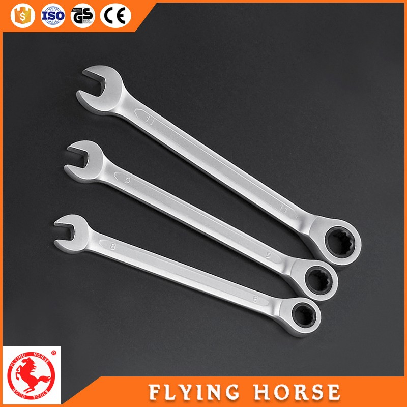 Chromeplated Ring Spanner And Open End Wrench combination wrench set