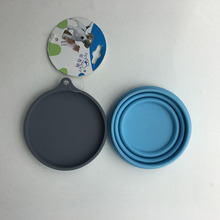 Foldable Silicone Dog Bowl Travel Feeder with lid