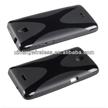 X-Line Wave TPU Gel Case Cover For Huawei Ascend Y301 Mobile Phone Shell