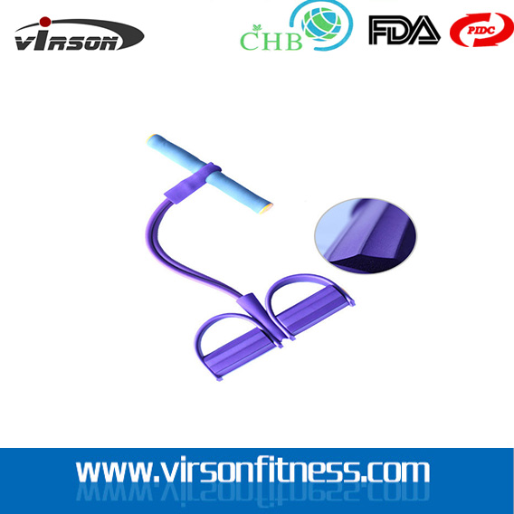 VIRSON 4 Rope Resistance Band Body Tummy Workout GYM Abdominal Trainer Fitness Yoga Set
