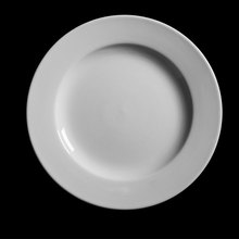 New design round ceramic <strong>flat</strong> dishes plates 10.5 inch white restaurant plates