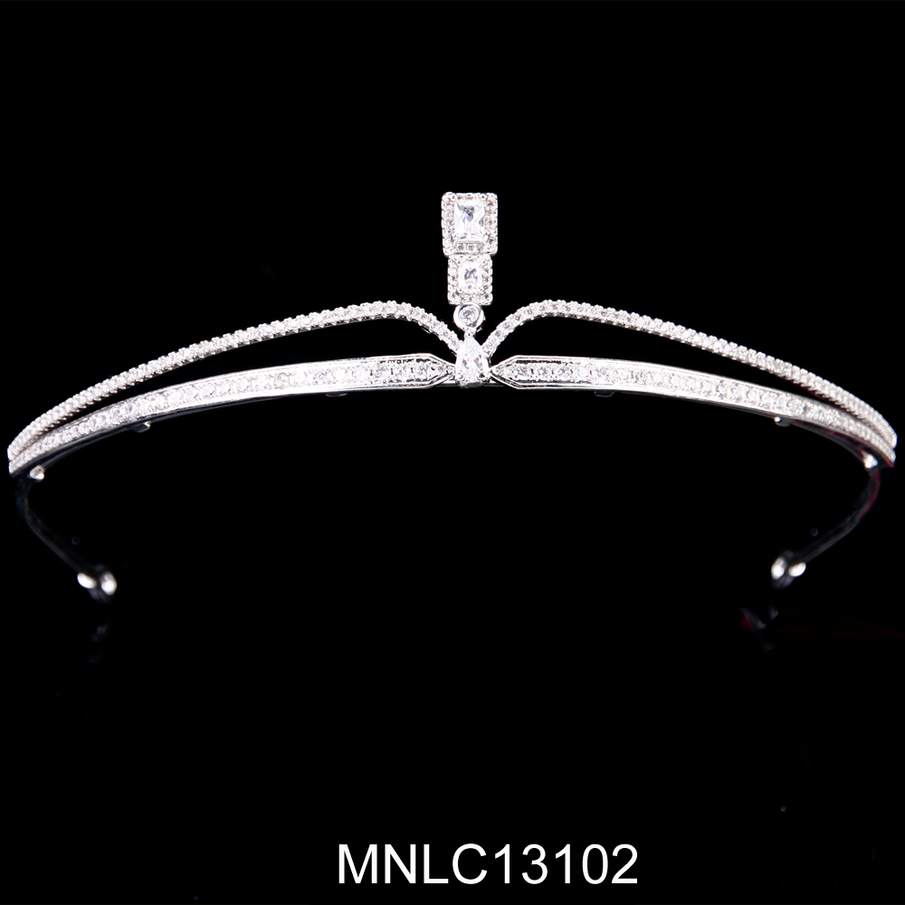 High Quality simple style Zircon princess tiaras and crowns