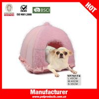 Pink Beautiful Girl Lovely Dog House Princess Pet Beds