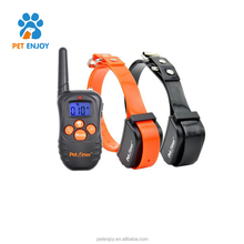 Amazon top pet product dog training collar 330 beep vibration shock,no barking remote controller electric shock dog collar