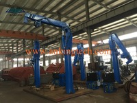 Offshore Marine Electric Hydraulic Telescopic Crane For Ship