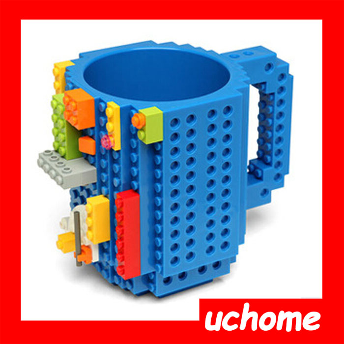 UCHOME Creative Gift DIY Fun Build-On Brick Mug Assembling Puzzle Lego Coffee Mug