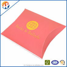 china supplier kraft pillow box packaging hair extensions