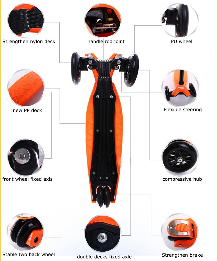 2017 hot sale children kick scooter