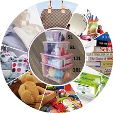 12L Food Grade New PP Plastic Multipurpose Household Stackable Packaging Boxes