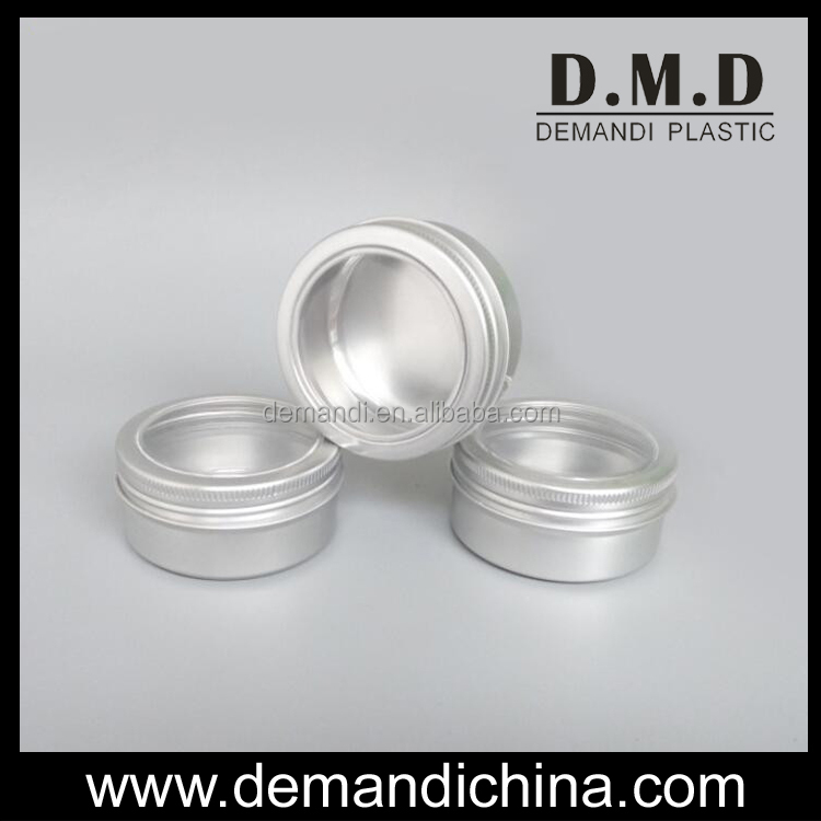 60g 80g 100g 150g empty aluminum jars with clear window