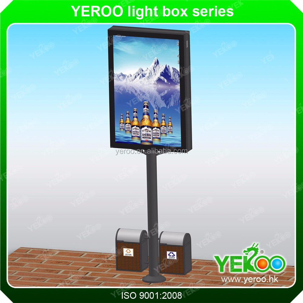 led light box outdoor furniture advertisement street box