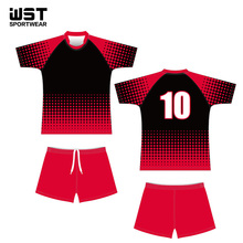 Custom Wholesale touch rugby uniforms 100% Polyester sublimation printing