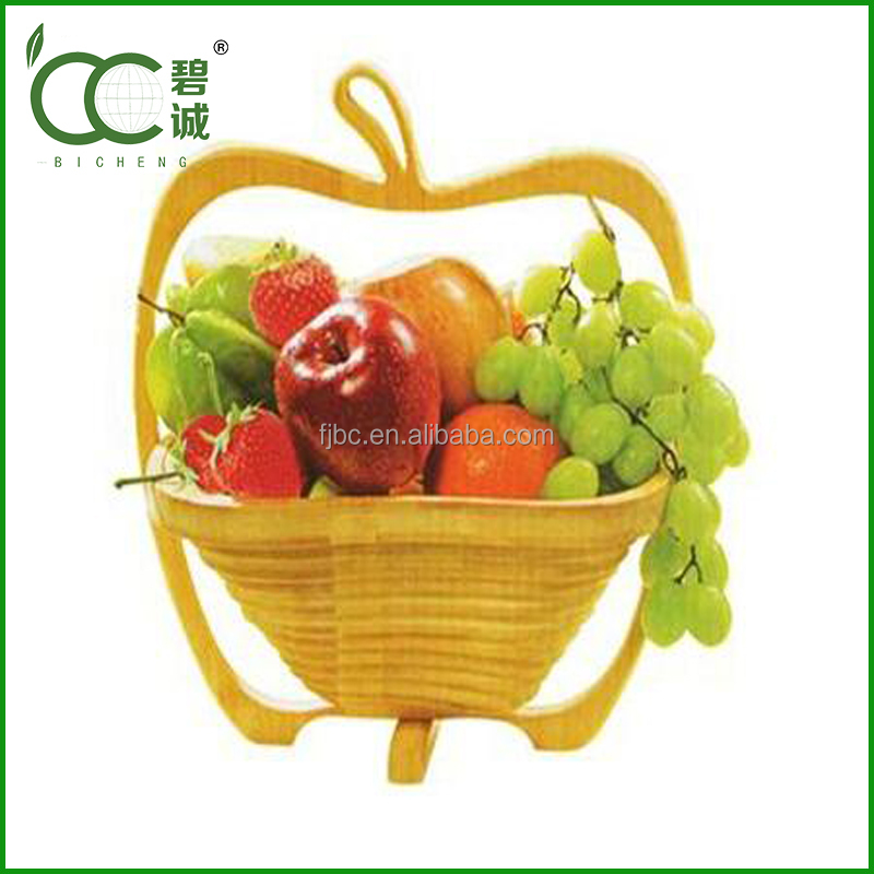 Eco-Friendly bamboo folding fruit basket