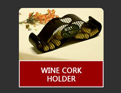 Metal wine glass shape cork holder