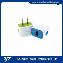 Colorful 5V 1A single usb wall charger oem factory