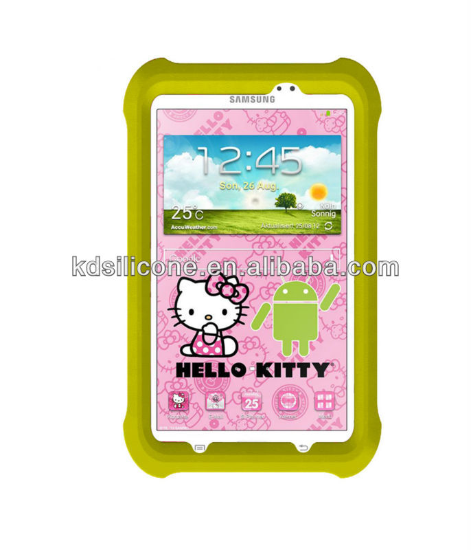 kids 7 inch tablet case for samsung galaxy tab 3 7.0 Hello Kitty Edition rugged design shock proof