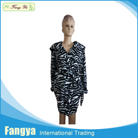 wholesale Adults Printed coral fleece bath robe/sleepwear