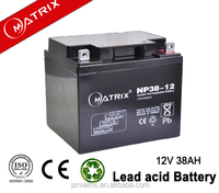 factory wholesale sealed lead acid battery type 12v 38ah deep cycle battery