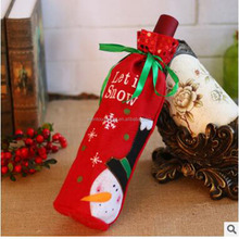 Wholesale Fashionable Christmas Wine Bottle Bags