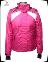 100% nylon ladies high quality Ski /snow jacket & winter jacket &windproof&waterproof&breathable