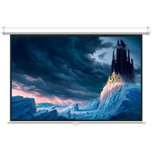 Cheap price matte white pull down projection screen