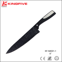 Colorful blade plastic handle 8 inch chef knife for kitchen