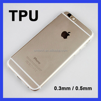 China phone case manufacturer transparent 5.5 inch TPU mobile phone case for iphone 6