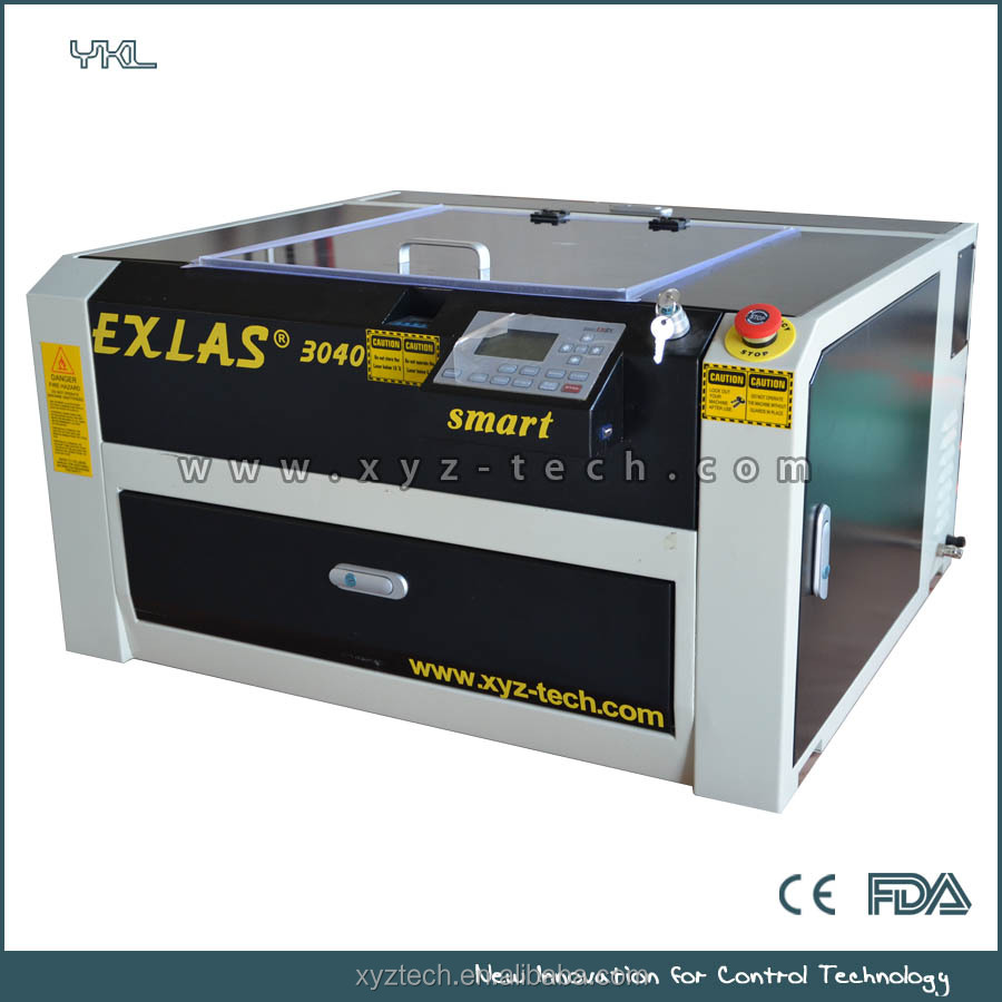 acrylic laser engraving machine EXLAS 3040 for hobby mini